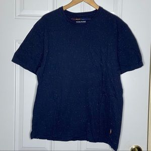 Colours Alexander Julian Speckled Navy Blue T XL